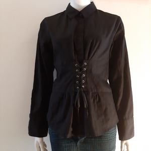 2 for $30 Laced front corset like shirt - gothic